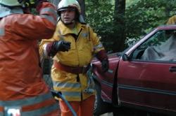 Einsatzübung Autounfall mit der Feuerwehr Birmensdorf
